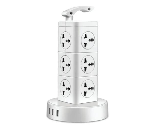 Ổ cắm điện Calibra hình tháp 12 lỗ cắm, 3 USB CSU-12T1U